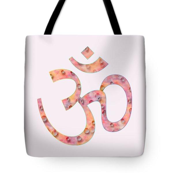 Om Symbol Digital Painting Tote Bag by Georgeta Blanaru
