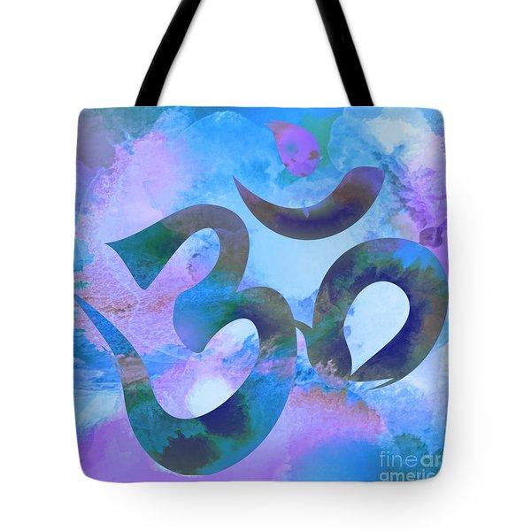 Om Symbol, Light Blue And Purple Pastel Tote Bag
