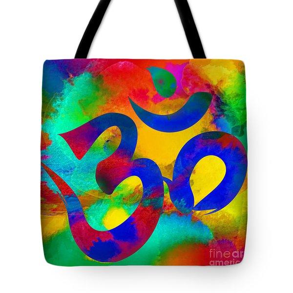 Om Symbol, Rainbow Tote Bag