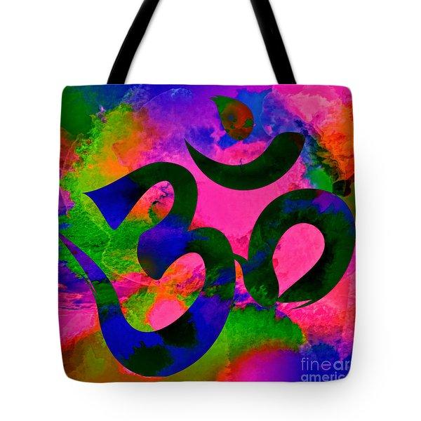 Om Symbol, Rainbow, Ver2 Tote Bag