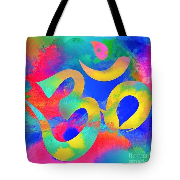 Om Symbol, Rainbow. Ver3 Tote Bag