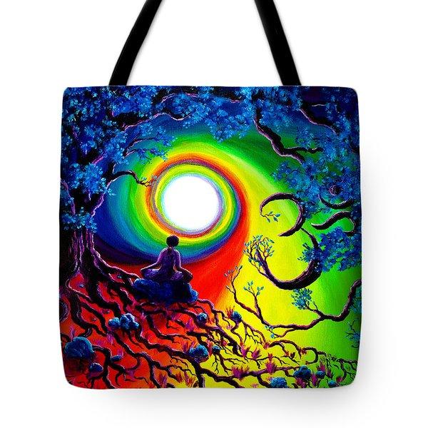 Om Tree Of Life Meditation Tote Bag