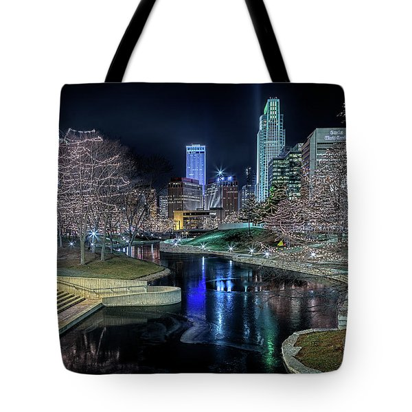 Omaha Holiday Lights Festival Tote Bag