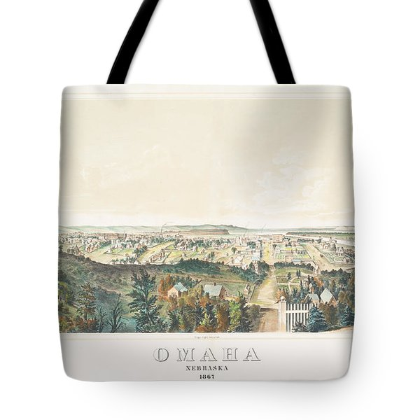 Omaha, Nebraska Looking North From Forest Hill 1867 Tote Bag