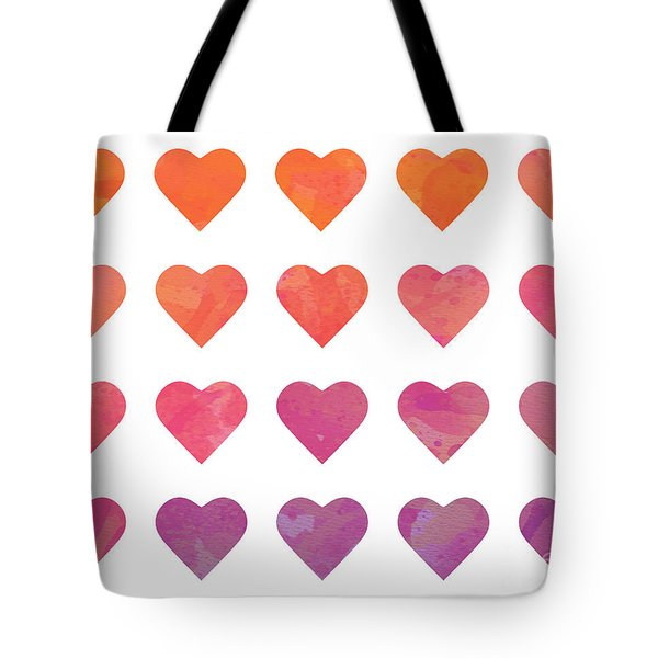 Ombre Hearts Tote Bag