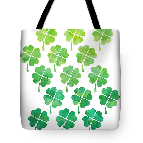 Ombre Shamrocks Tote Bag