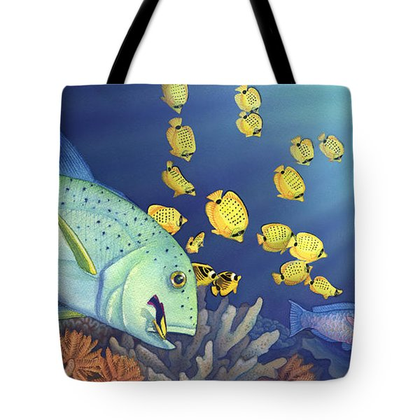 Omilu Bluefin Trevally Tote Bag by Tammy Yee