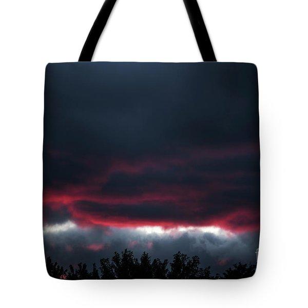 Ominous Autumn Sky Tote Bag