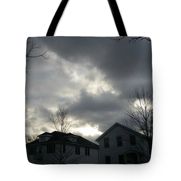 Ominous Clouds Tote Bag by Diamante Lavendar
