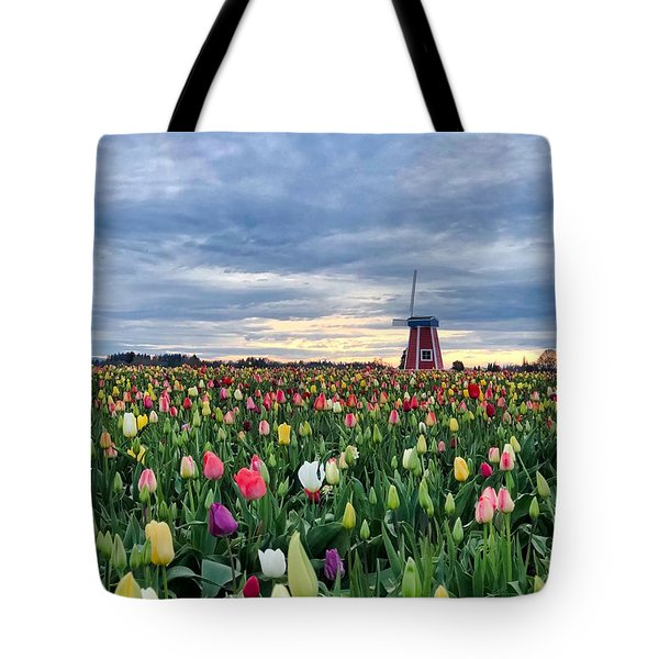 Ominous Spring Skies Tote Bag