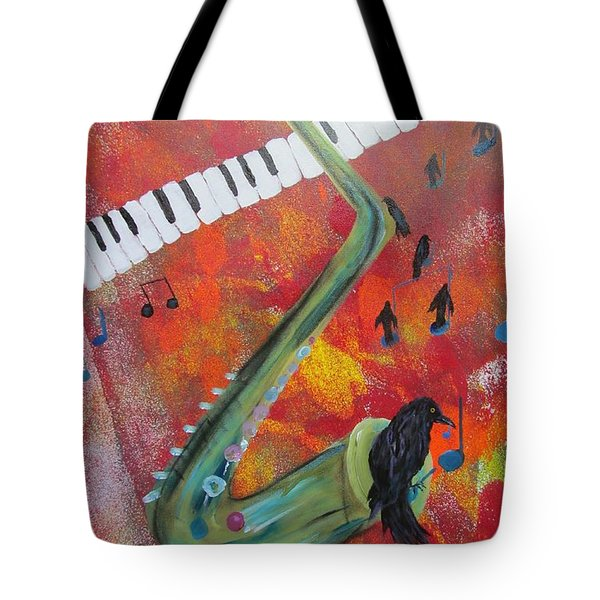 On A Blue Note Tote Bag