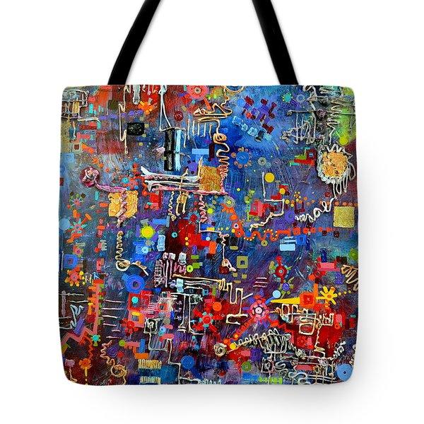 On A Chip Tote Bag by Regina Valluzzi