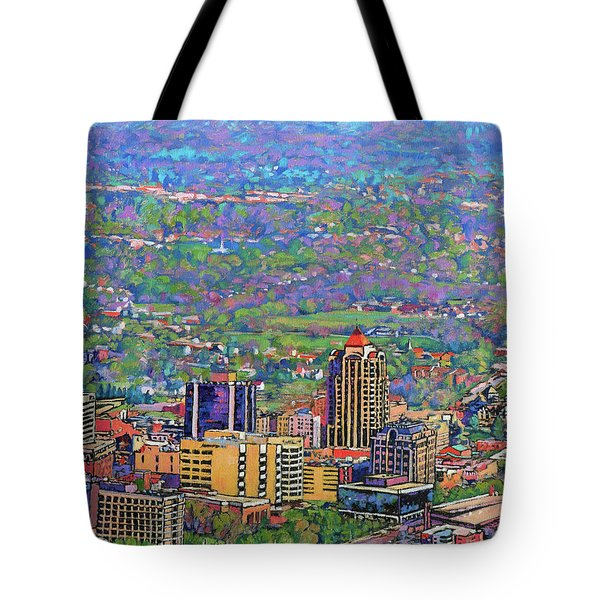 On A Clear Day - A View From Mill Mountain Tote Bag