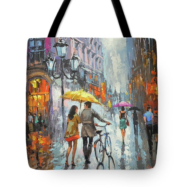On A Cloudy Day  Tote Bag