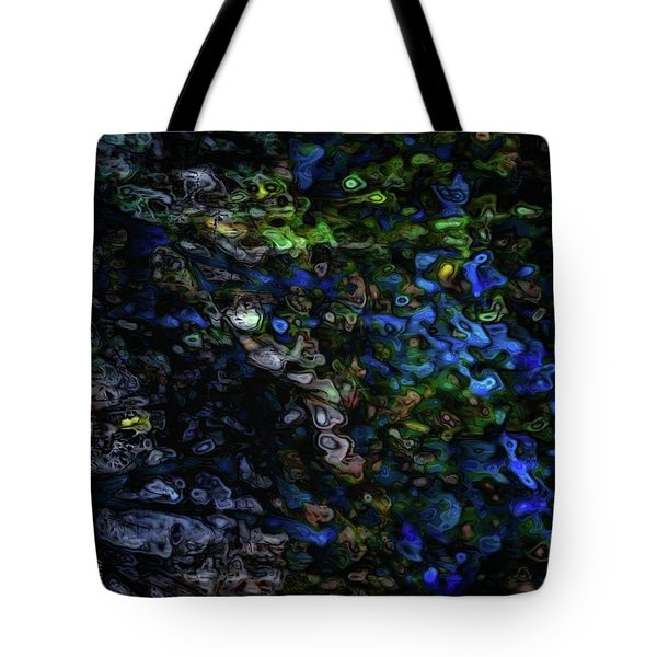 Tote Bag featuring the digital art On A Cold Winter Night by Mimulux patricia no No