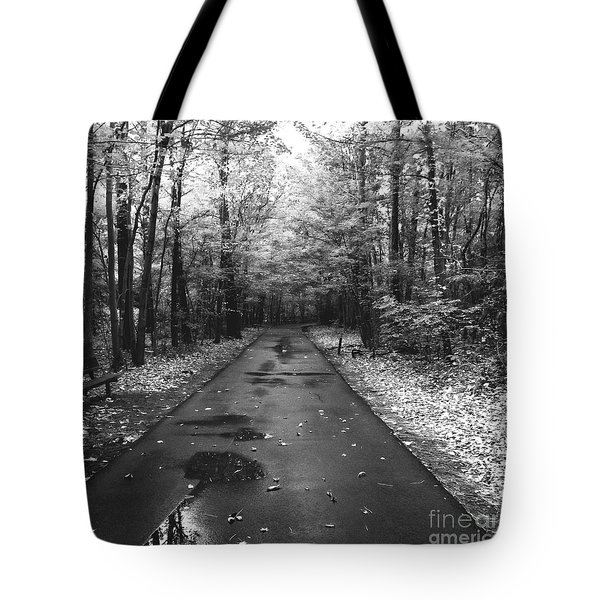 On A Drizzly Day Tote Bag by Rebecca Davis