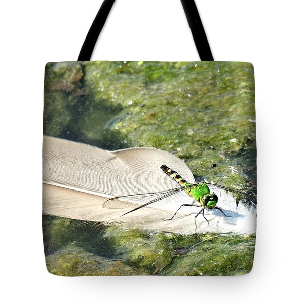 On A Feather Raft Tote Bag