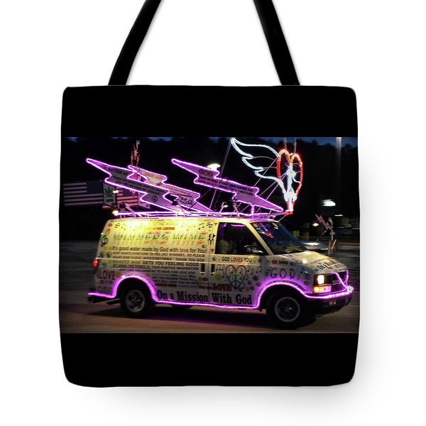 Tote Bag featuring the photograph On A Mission With God by Suzanne Gaff