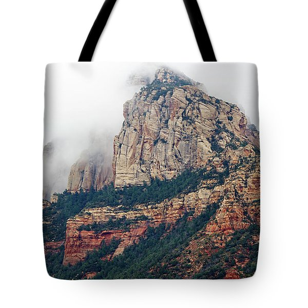 Tote Bag featuring the photograph On A Misty Day by Phyllis Denton