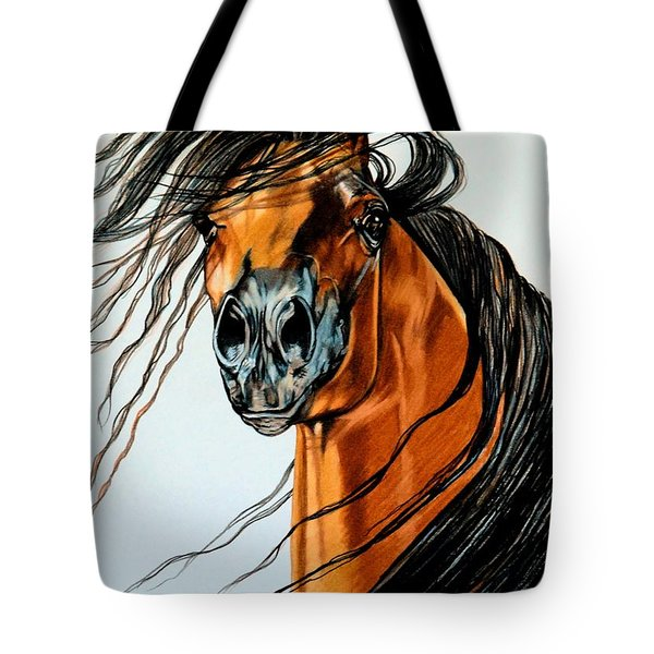 On A Windy Day-dream Horse Series #2003 Tote Bag