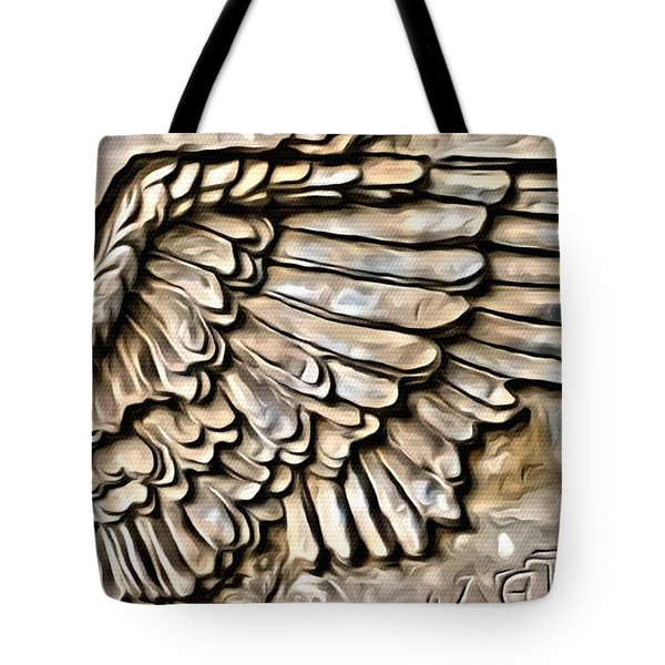 On Angels Wings Tote Bag