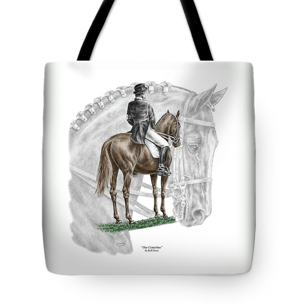 On Centerline - Dressage Horse Print Color Tinted Tote Bag