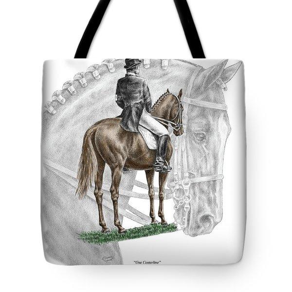 On Centerline - Dressage Horse Print Color Tinted Tote Bag
