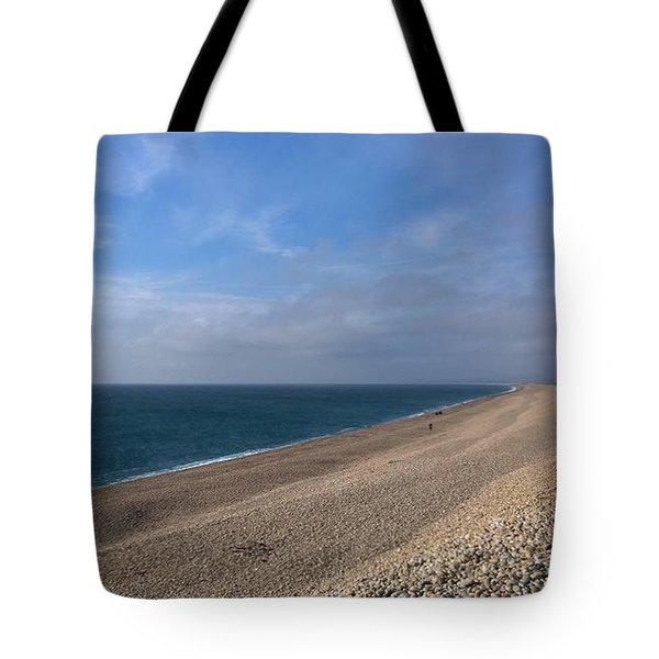 On Chesil Beach Tote Bag by Anne Kotan