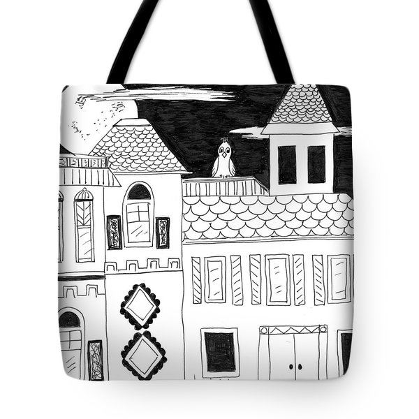 Tote Bag featuring the painting On Duty by Lou Belcher