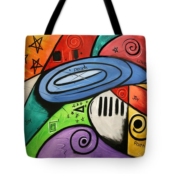 On Earth As It Is In Heaven Tote Bag by Anthony Falbo