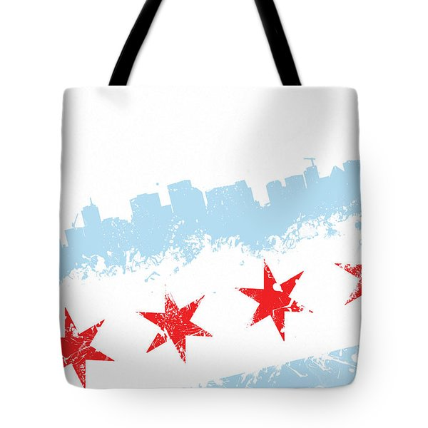 Chicago Flag Lean Tote Bag