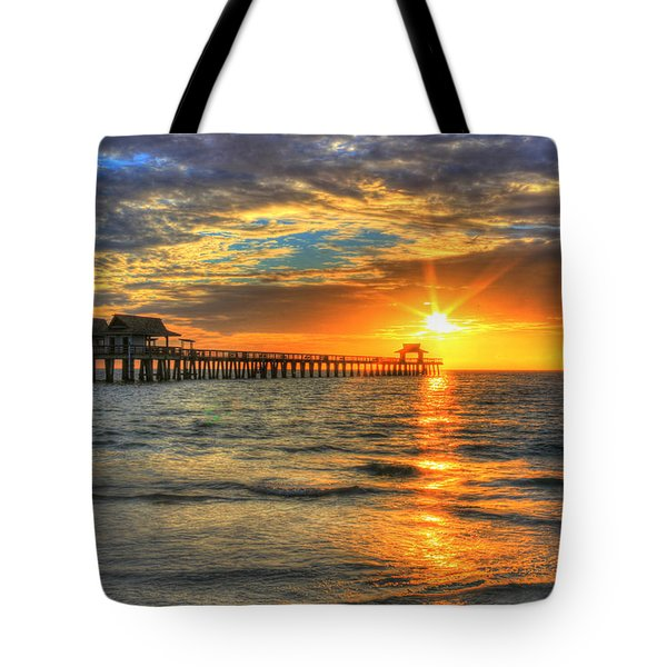 On Fire Tote Bag by Sharon Batdorf