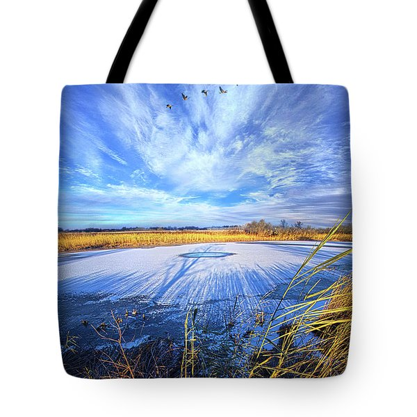 Tote Bag featuring the photograph On Frozen Pond by Phil Koch