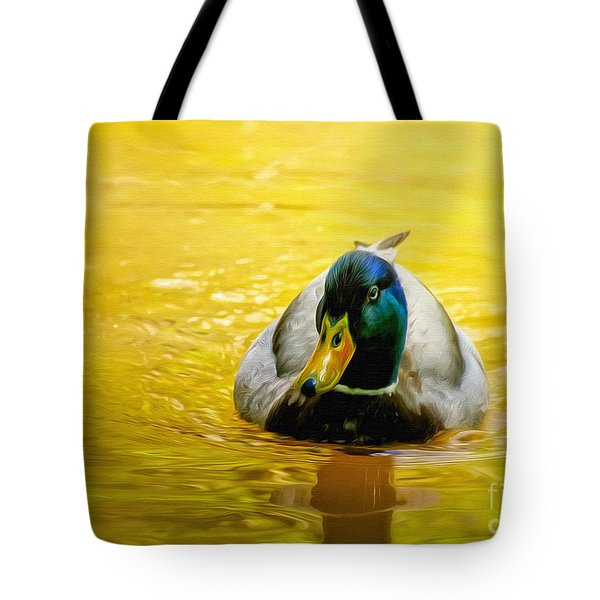 On Golden Pond Tote Bag by Lois Bryan