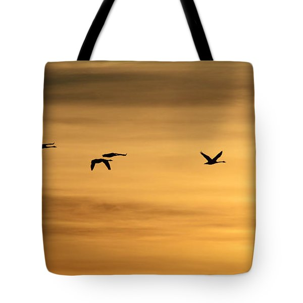 On Golden Swan Tote Bag