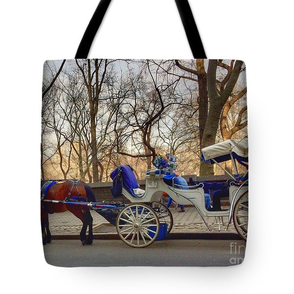 On My Bucket List Central Park Carriage Ride Tote Bag