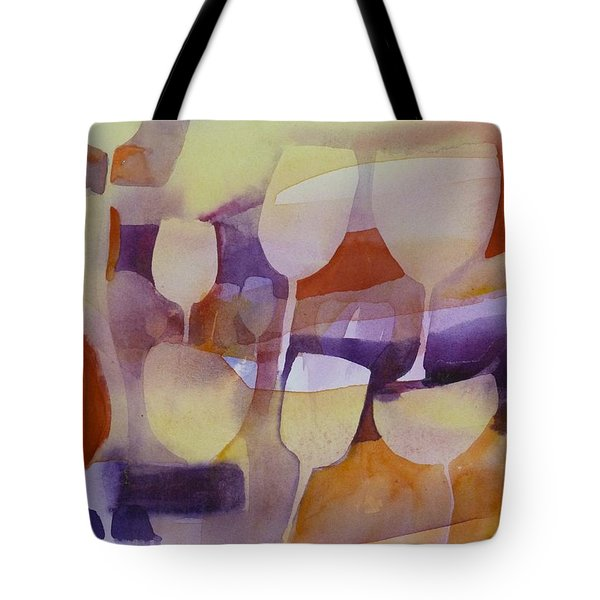 On Ne Voit Que Des Tulipes Tote Bag by Donna Acheson-Juillet