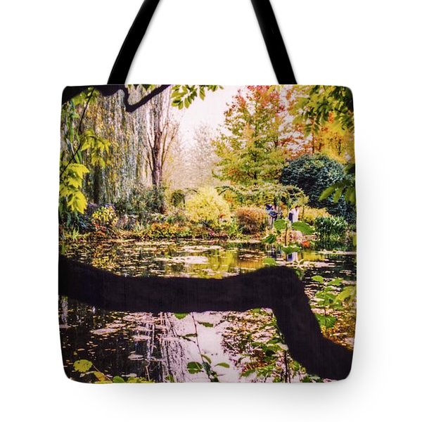 On Oscar - Claude Monet's Garden Pond  Tote Bag