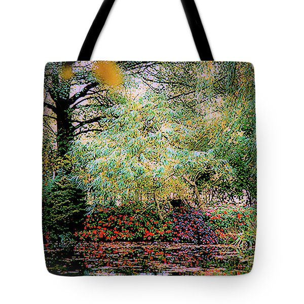 Reflection On, Oscar - Claude Monet's Garden Pond Tote Bag
