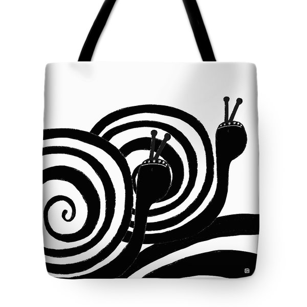 Tote Bag featuring the painting On Our Way by Lisa Weedn