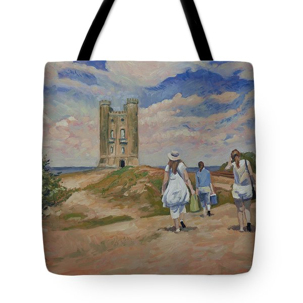 On Our Way To Broadway Tower Tote Bag