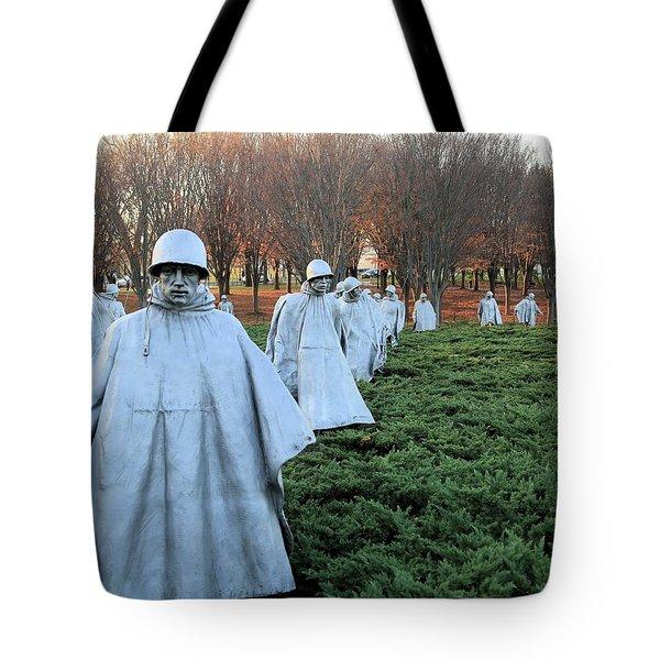 On Patrol The Korean War Memorial Tote Bag