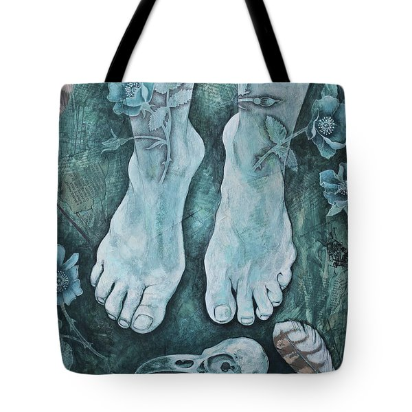 On Sacred Ground Tote Bag by Sheri Howe