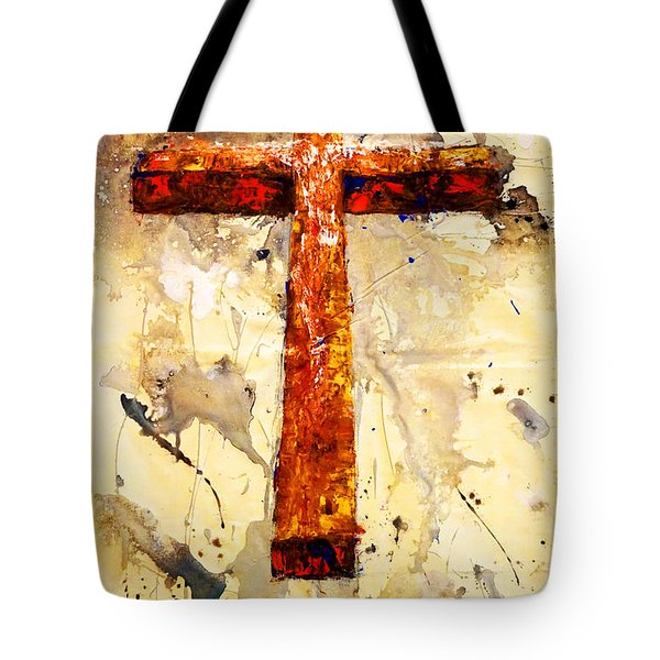 On That Old Rugged Cross Tote Bag