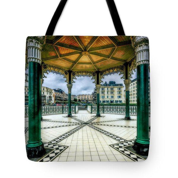 Tote Bag featuring the photograph On The Bandstand by Chris Lord