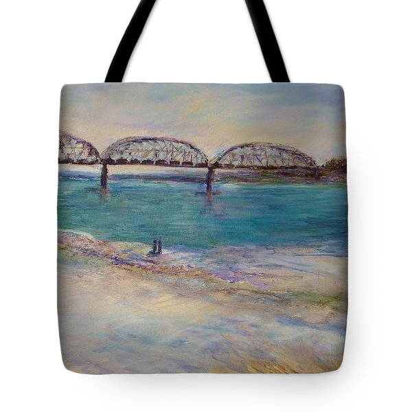 On The Bank Tote Bag by Helen Campbell