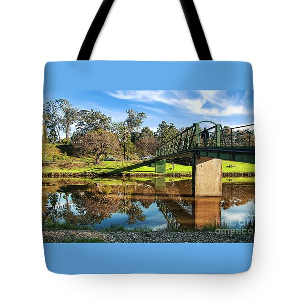 Tote Bag featuring the photograph On The Banks Of The River By Kaye Menner by Kaye Menner