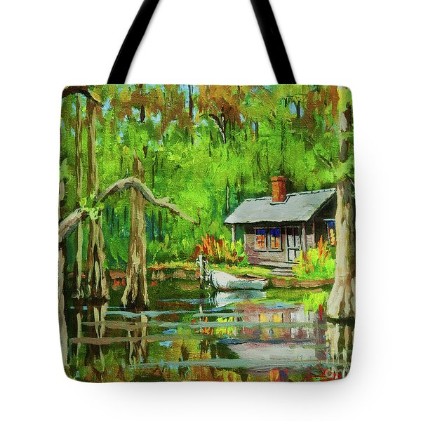 On The Bayou Tote Bag by Dianne Parks