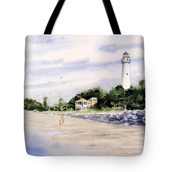 On The Beach At St. Simon's Island Tote Bag
