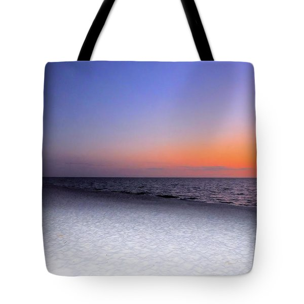 On The Beach At Sunset Tote Bag